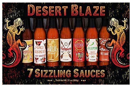Desert Blaze 7 Sizzling Sauces, 21 Oz