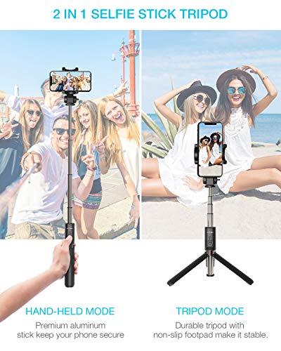 BlitzWolf Selfie Stick Tripod with Wireless Remote for Samsung Galaxy Phone