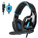 Sades SA902 USB Auriculares Cascos Gaming Sonido...