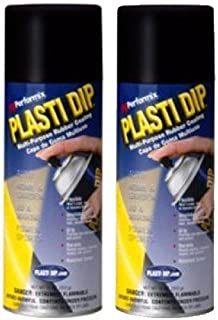 2 PACK PLASTI DIP Mulit-Purpose Rubber Coating Spray BLACK 11oz