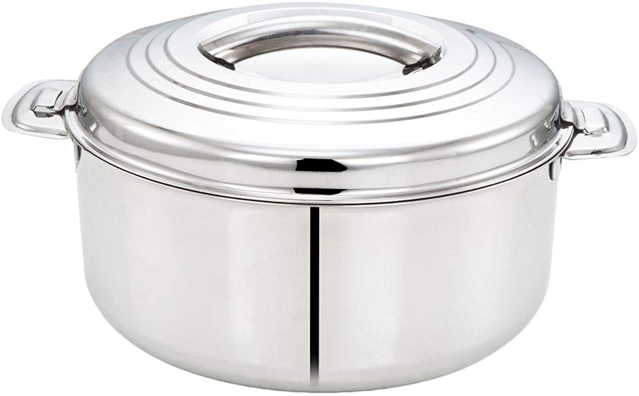 Tabakh 5 Liter Stainless Steel Casserole Hot Pot Food Warmer Serving Bowl 5000ml