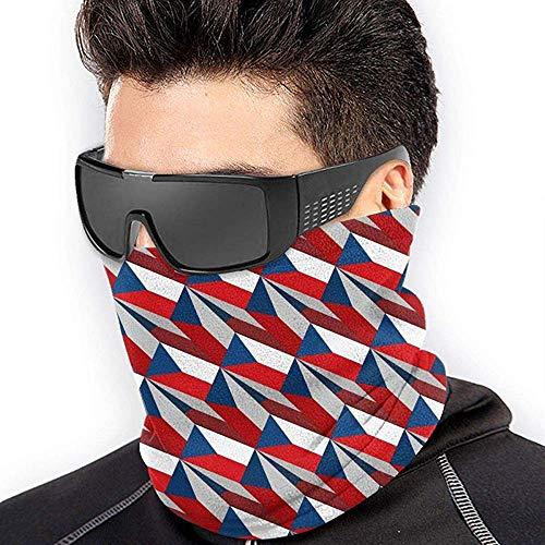 air kong Czech Republic Flag 3D Art Pattern Scarf Neck Gaiter Magic Headband Balaclava Hood Unisex Mask Bandana Winter Warm Headwear