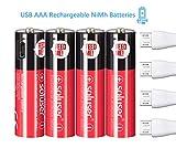 Best Usb Rechargeable Batteries - AA Rechargeable Batteries, USB Rechargeable AA Batteries 1000mAh Review
