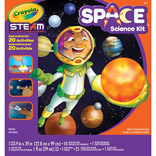 Crayola Solar System Science Kit, Educational Toy, Gift for Kids, Ages 8, 9, 10, 11, Multi