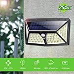 Solar Lights Outdoor 254 LED,【Automatic Illumination】Feob Solar Motion Sensor Security Lights [2500LM-2500mAh] - 3 Optional Modes, IP65 Waterproof Solar Lamp Solar Powered Wall Light (2 Pack) 5
