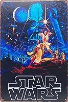 1977年スターウォーズのポスター、メタルティンサイン、ビンテージスタイルの壁飾り