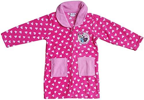 Disney Vestaglia Invernale Bimba vestaglietta Bambina Pile con Zip Minnie Mouse HS7239 (5 Anni)