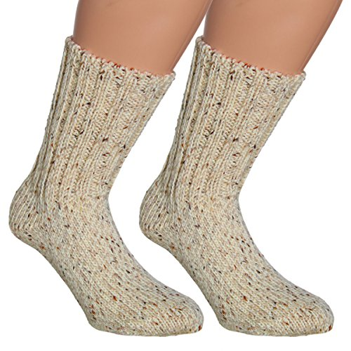 Vitasox 42952 Damen Herren Socken Wollsocken Wandersocken Made in Germany 2 Paar Natur 35/38