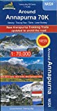 Trekking Map Around Annapurna 70K 1:70.000