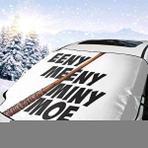 MaMartha Car Windshield Snow Cover Walk Dead Lucille Eeny Meeny Miny Moe Auto Windschutzscheibe Schneedecke, Eisentfernung Sonnenschutz, Universal Fit