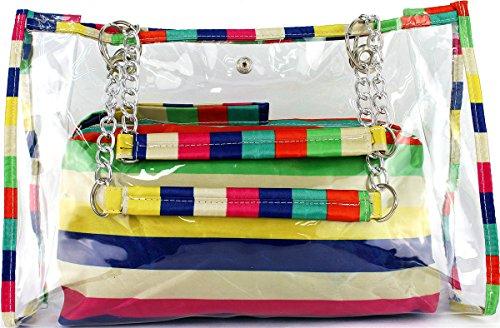 Oath_song - Bolso pequeño al hombro para mujer multicolor Stripe M