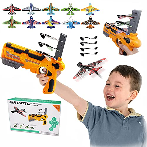 DIIQII Airplane Toy Bubble Catapult Plane Toy Airplane, One-Click Ejection Foam...