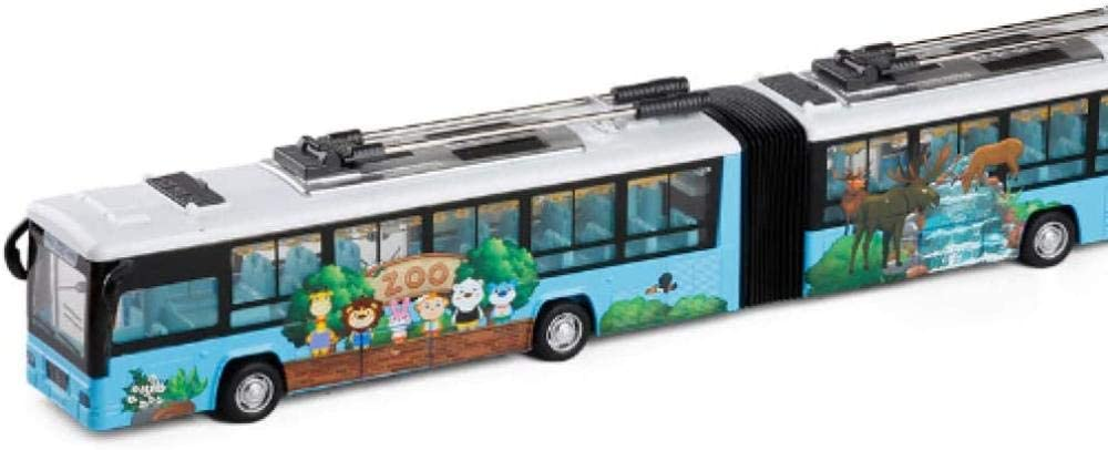 THKZH High Simulation City Trolleybus Double Pull Bus Alloy Finally popular brand Our shop most popular 1:48