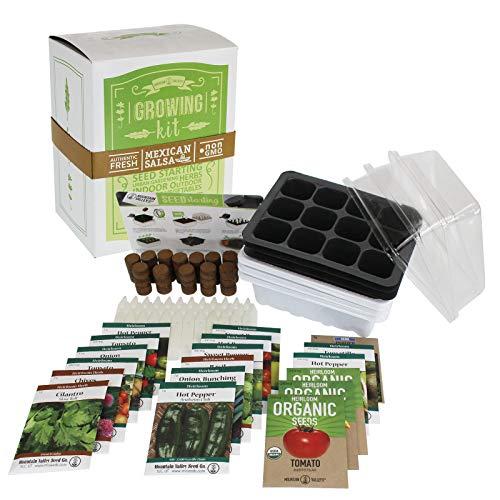 Salad & Vegetable Garden Seed Starter Kit | Premium Kit | 18...