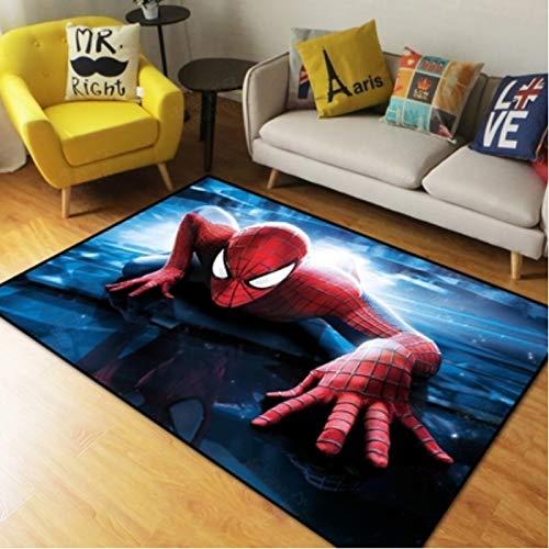 Alfombra Alfombra Spiderman Dibujos Animados Arte Creativo Decoración Moderna Sala Sofá Alfombra Antideslizante Moda Niños Alfombra Desenfrenada 80Cm * 120Cm