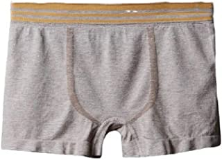Doufine Mens Mid-Rise Striped Stretchy Casual Pure Color Breathable Boxer Brief