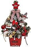 Árbol de Navidad Mini Cifrado Abeto Árbol de Navidad con Luces LED Juego de Adornos Nordic INS Día de Navidad Oficina Adorno de Navidad 45CM Rojo DIY Peng Day Wind