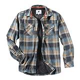 HWILEGEND Men's Thermal Lined Flannel Shirt Jacket