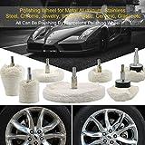Tampones para pulir automóviles 7PCS disco de pulido coche disco pulidora for el pulidor y destornillador eléctrico for la rueda de pulido de pintura Care Accesorios for herramientas # 30