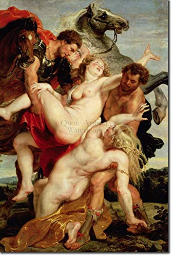 Introspective Chameleon Peter Paul Rubens - The Rape of The Daughters of Leucippus (1617) - Classic Painting Photo Poster Print Art Gift - Sir Flemish Baroque Artist Erotic - A3 Size (29.7 x 42.0cm)