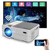 Portable Wireless Projector WiFi Bluetooth 3800 Lumen Home Theatre Smart LCD Digital Projector HDMI USB Airplay Compatbile with Smartphones TV Stick DVD Mini Home Entertainmet Projector