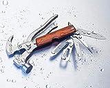 FENG Notfallhammer fürs Auto, 18-in-1-Multifunktions-Rettungshämmer mit Tragetasche für Outdoor Messer Survival-Tool-Kit...