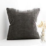 MIULEE 1 Stück Kordsamt Soft Solid Dekorative Quadrat Wurf Kissenbezüge Set Kissen Fall für Sofa...
