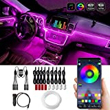 Car LED Interior Strip Lights, 16 Million Colors 9 in 1 with 236 inches Fiber Optic, Multicolor RGB Sound Active Automobile Atmosphere Ambient Lighting Kit - Wireless Bluetooth APP Control