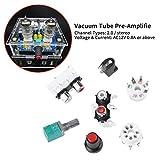 Amplificador electrónico, amplificador de válvula de tubo 6J1 Amplificador de tubo Amplificador de válvula de tubo de vacío electrónico 6J1 Preamplificador Amplificador Tablero Amplificador Kit de bri