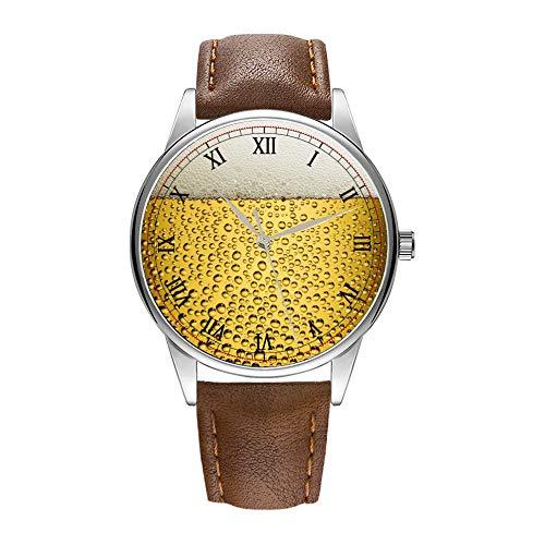 Herenhorloge bruin Cortex-kwartshorloge voor mannen beroemd luxe polshorloge kwartshorloge voor zakelijk geschenk bierglas polshorloges