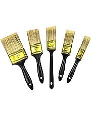 VASLON 多用途刷毛 ペイント刷毛 5サイズセット 木製 ドア、窓、壁、木製家具の塗装済み、絵画使用、バーベキュー塗料用、塗装修理に最適