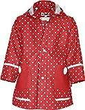 Playshoes Mädchen Regen-mantel Punkte Jacke, Rot, 128