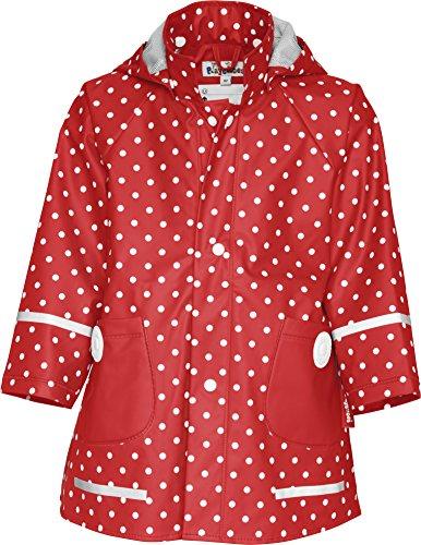 Playshoes Mädchen Regen-mantel Punkte Jacke, Rot, 86