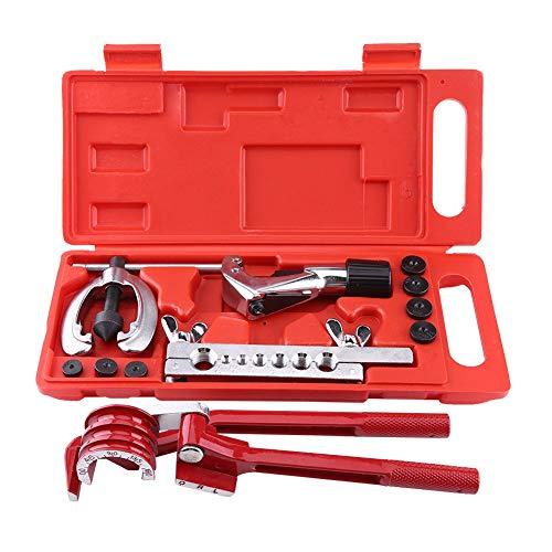 11pcs/set Bremsleitung Bördelgerät Bördelwerkzeug Rohrschneider Rohrbördelwerkzeug für Einzel- oder Doppelverbreiterungen
