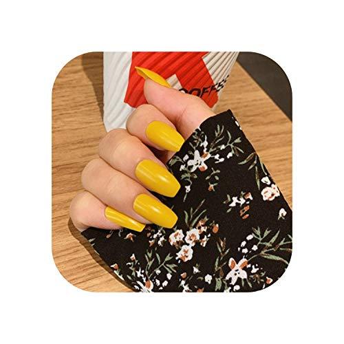 Nouveau coréen Ins été portable bleu longue tête carrée faux ongles conseils femmes manucure décorations bricolage artificiel ongles patchs 24 pcs-style13-