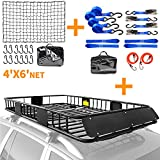 XCAR roof rack + net 4' X 6' + blue straps