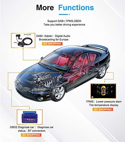 WHL.HH Androide 10.0 en el Tablero Coche de 9' Estéreo Cabeza Unidad Auto Radio Se sentó Nav Auto GPS Navegación por Porsche pimentón 2003-2010,WiFi+4G:2+32G