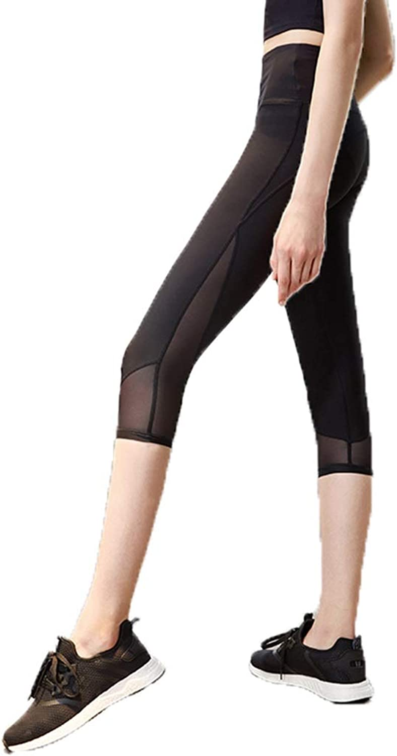 Tracksuits Running Sports Fitness Clothing mesh TightFitting Slim Stretch QuickDrying Seven Points Pants Vest line Yoga high Waist Slimming Hip Fashion Breathable Moisture Wicking Modified Leg Type