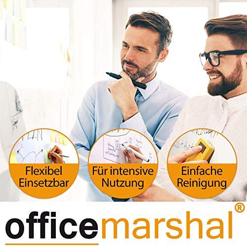 Office Marshal Profi – Whiteboard | Testsieger, Note 1,3 | magnetisch und beschreibbar | Magnettafel mit schutzlackierter Oberfläche | vertikal und horizontal montierbar | 13 Größen | 60x90cm - 3