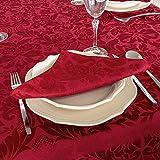 Mantel de mesa color burdeos. Tratamiento antimanchas. Tamaños grandes, ref. Milano, 80% algodón, 20% poliéster., Burdeos., 6 Napkins 18 x 18' (45 x 45cm)