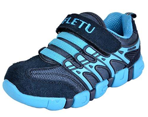 DADAWEN Boy's Girl's Trainers Outdoor Sports Running Shoes Dark Blue UK...