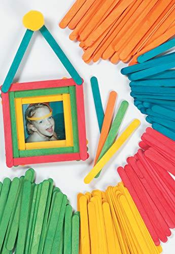 Baker Ross Palitos de Helado para Manualidades en 5 Colores Variados Perfectos...