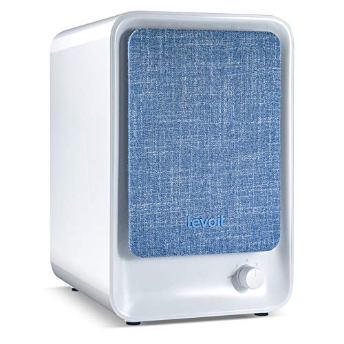 LEVOIT HEPA Air Purifier for Home, Smoke Cleaner w Dual Activated Carbon Filter for Bedroom Office Dorm, 100% Ozone Free, Reduce 99.9% Allergy Dust Pollen Pet Dander, (Available for California)