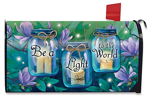 Briarwood Lane Be A Light to The World Spring Magnetic Mailbox Cover Standard
