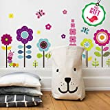 Flower Wall Stickers for Kids - Floral Garden...