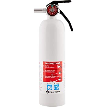 First Alert Fire Extinguisher | RecreationVehicle and Marine FireExtinguisher, White, Rechargeable, REC5