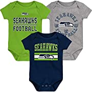Officially Licensed Product Screen Printed Team Graphics Material: 100% Cotton - Tagless Collar - Soft Feel Cotton Fabric for Comfort Care: Machine washable - Three-Snap Closure at Bottom of Each Bodysuit - Set Includes Three Bodysuits Fits: Newborn ...