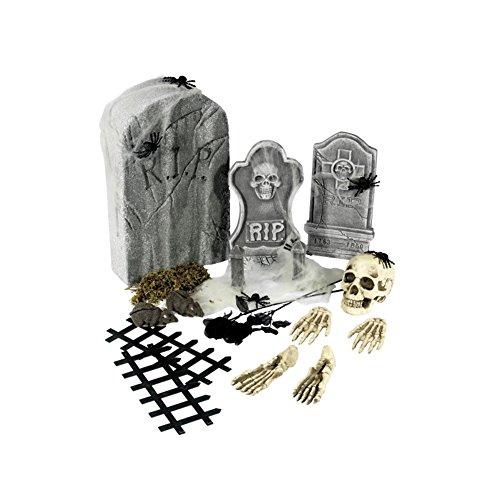 Smiffys Collection cimetière 24 pièces, avec pierres tombales & accessoires