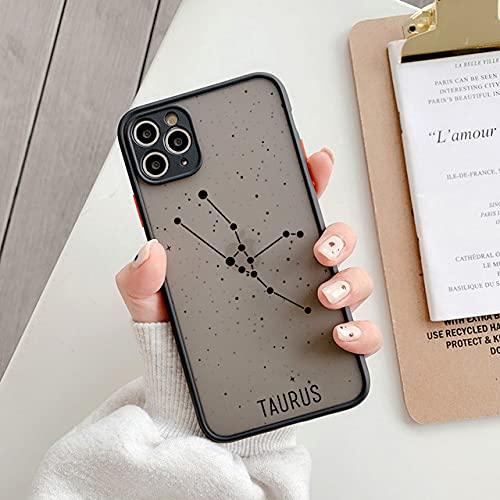 LIUYAWEI Fashion 12 Constellation Phone Case para iPhone 12 11 Pro MAX 7 8 Plus XS MAX X XR SE 2020 Bumper Funda Transparente a Prueba de Golpes, T2, para iPhone SE 2020