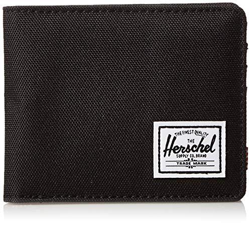 Herschel Supply Roy + Coin RFID Billetera, Negro (, Taille Unique para Hombre